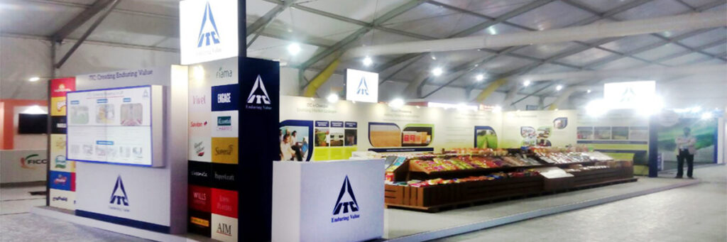 Our creative stand setup helped ITC Conglomerate achieve their business goals at the UP Summit
